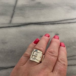 Sterling Silver Buckle Style Ring